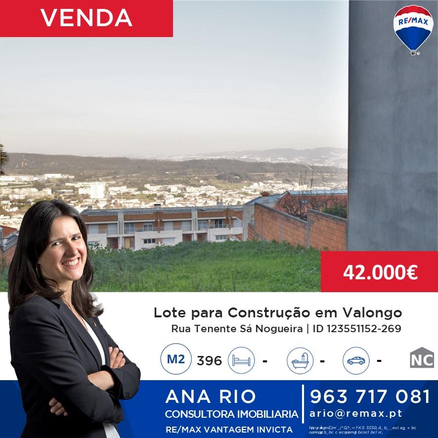 ID269 Lote para Construção em Valongo