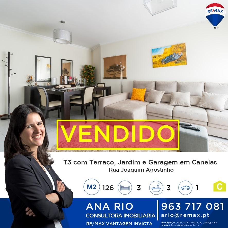 ID1071-276 Vendido - T3 com Terraço e Jardim de Inverno em Canelas