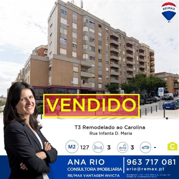 ID253 Vendido - Apartamento T3 Renovado ao Carolina