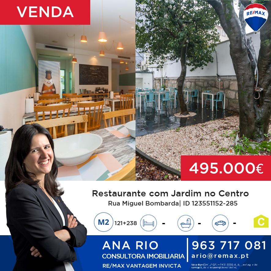 ID285 Venda - Restaurante com Jardim no Centro