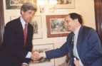 Then Senator Kerry with WV's William Anawaty