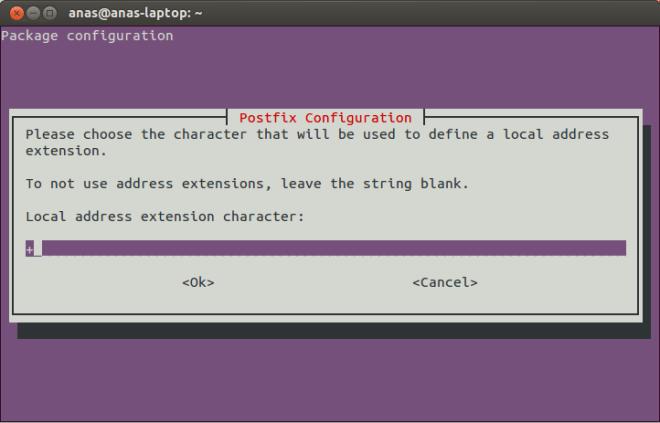 Postfix Configuration Screen 9