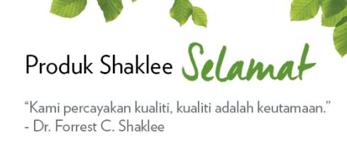Selamat Adalah Perkara Benar Dan Nyata Tentang Shaklee