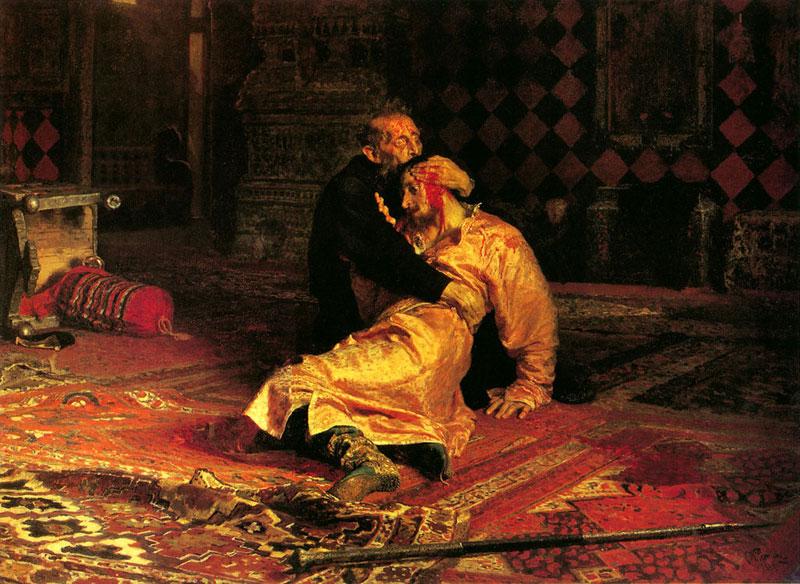 Илья Репин. Иван Грозный и сын его Иван