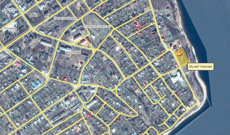 Музей Чкалова на карте