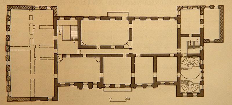 Городская усадьба Голицыных, План второго этажа