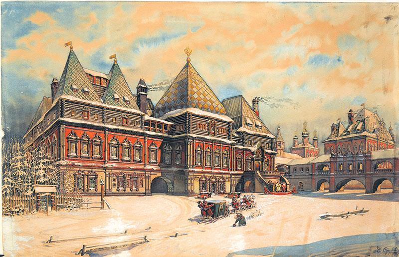 Палаты Голицына в Охотном Ряду в XVII веке