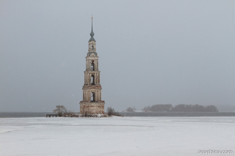 Колокольня бывшего Никольского собора, Калязин