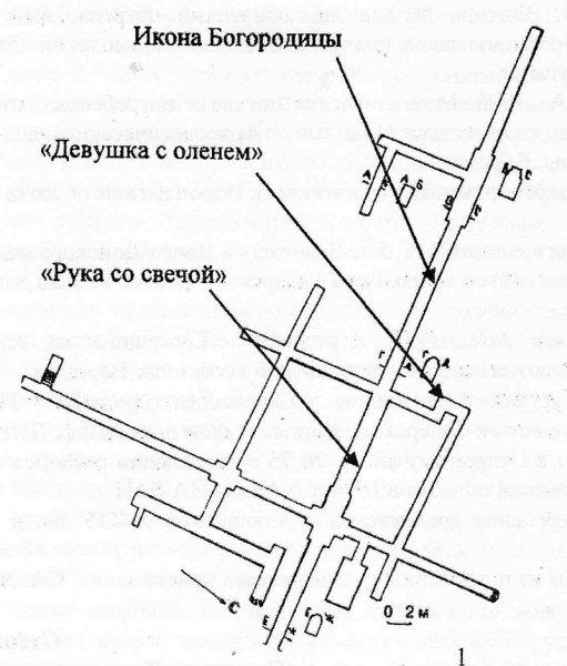 План пещеры в Песках