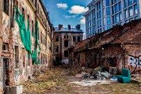 Заброшенный дом на Синопской набережной