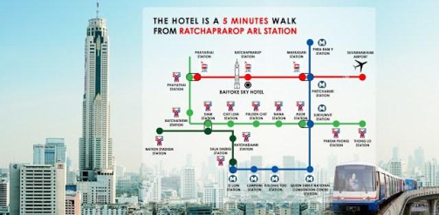 Baiyoke Sky Metro Map