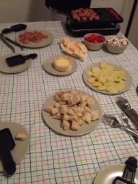 Agora na casa dos nossos amigos em Berlin... mais raclette!