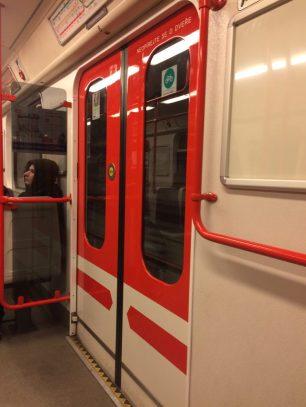 O metrô por dentro!