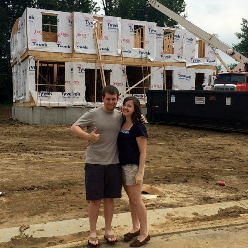 Drees Homes Update: July - a recap of our home's construction with Drees Homes // www.anaspiringheroine.com