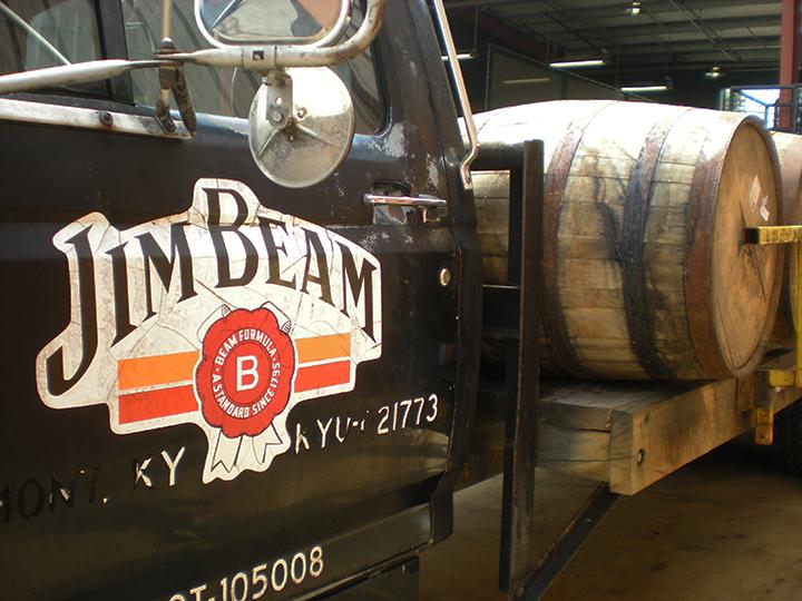 kentucky bourbon trail jim beam truck