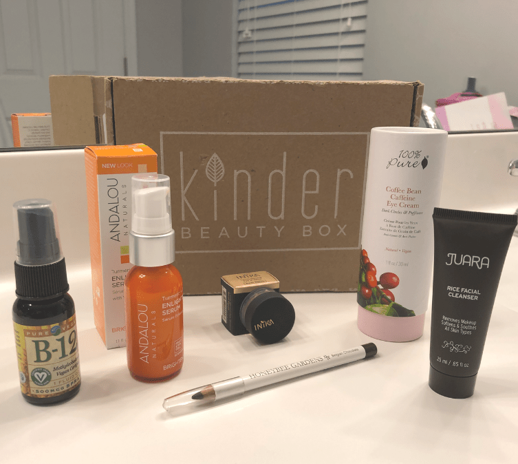 The Kinder Beauty Box is the newest makeup and skincare subscription box to hit the market, but it has a very special mission: everything in the box is vegan and cruelty-free! Read the January Kinder Beauty Box review and subscribe for a free gift in your first box! | An Aspiring Heroine