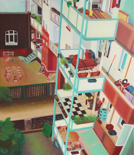 """Interior"", acrylic on canvas, 70 x 60 cm"