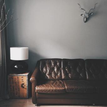 a moody living room