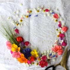 colorful flower wreath