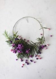 purple berries christmas wreath via Anastasia Benko