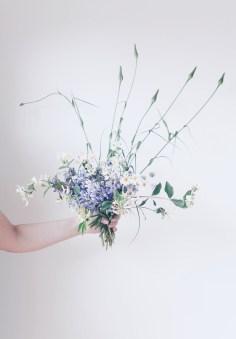 wild floral Arrangement with daisies, lupine
