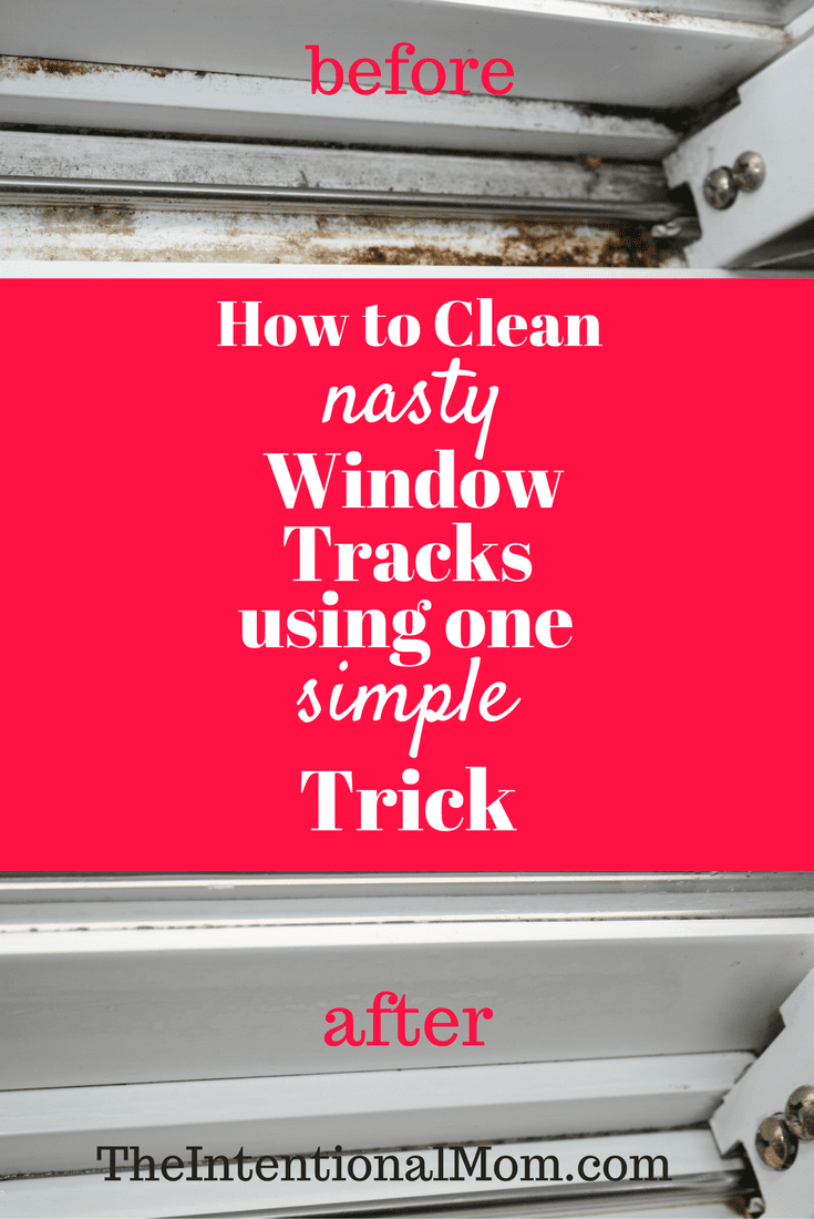 Clean window tracks - Cleaning tricks. Learn how to use these easy natural cleaning products for home - cleaning tricks and tips for lazy people. Deep cleaning and professional tips and tricks. #cleaning #hacks #cleaningtips #tips #house #homedecor
