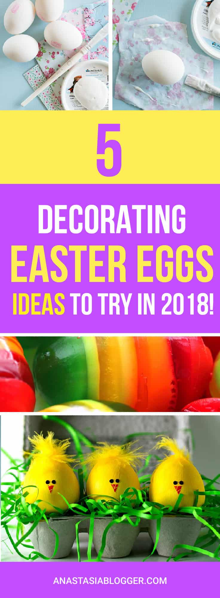 Check out my TOP 5 Easter Decorations Ideas for Eggs to Try this year! Coloring Easter Eggs can be an adventure for all the family! Best Easter Decorations DIY for Kids.  #easter #diy
