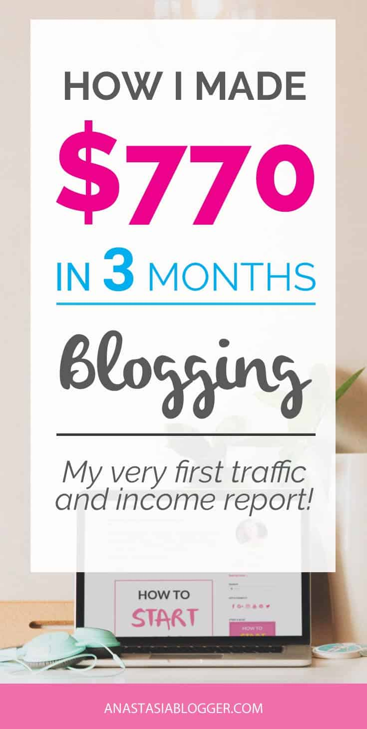 Blogger income reports – how to make money blogging for beginners. Make money at home as a blogger and see how much you can make in reality in the first 3 months blogging.