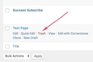 Removing default pages from a new WordPress blog