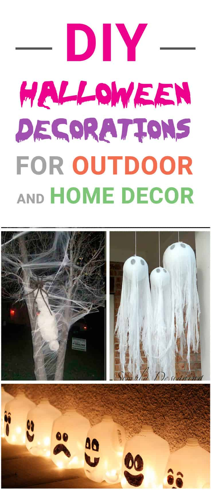 Best DIY Outdoor Halloween Decorations for 2018! Check these Halloween projects for inspiration and make our yard and home decor amazing for a Halloween party!