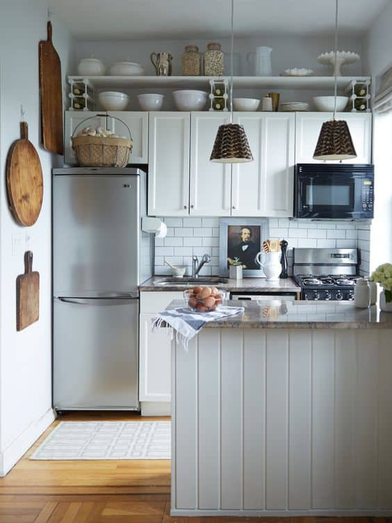 How Do You Make A Small Kitchen Look Bigger?Look At These DIY Remodeling  Kitchen