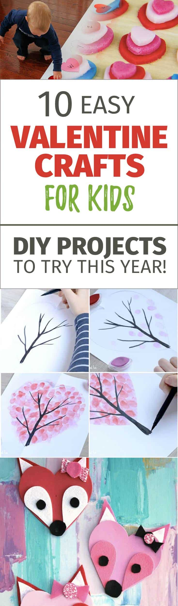 Check this collection of adorable Valentines Day Crafts for Kids and DIY them with your children! I found some for toddlers, for preschoolers and even for teens. Valentine Crafts for kids are a great idea to spend quality time with your children and teach them to have meaningful celebrations.