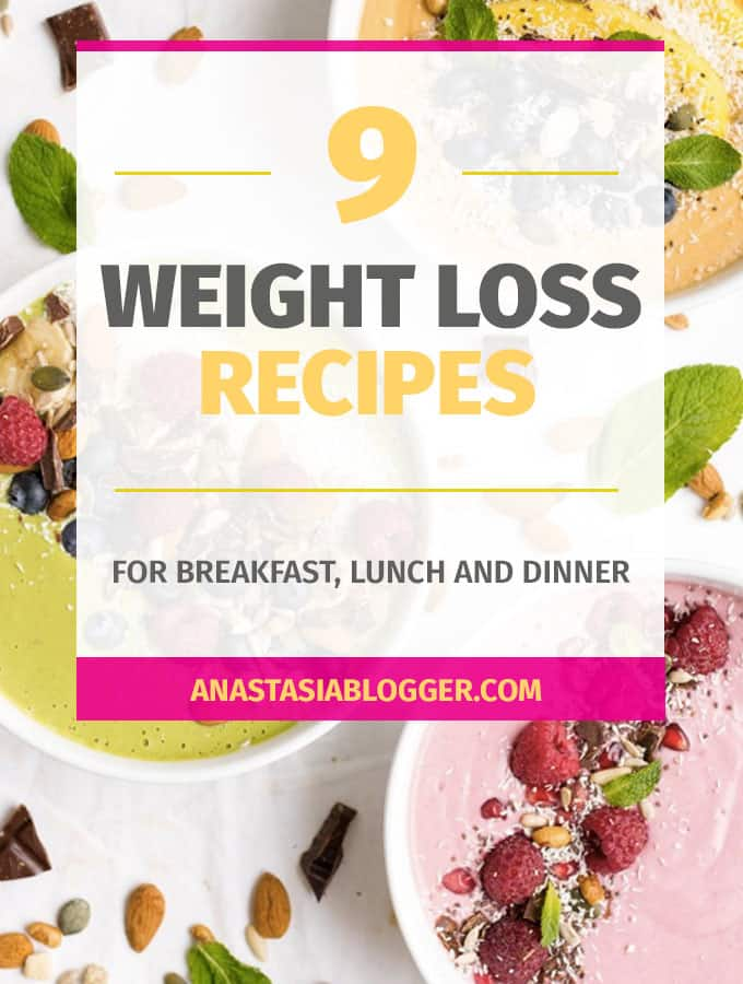 Check these 9 easy weightloss recipes for breakfast, lunch and dinner. These are healthy recipes for weight loss Paleo, clean eating, vegetarian and fat burning recipes. These weightloss recipes on a budget will take up to 30 min to cook.