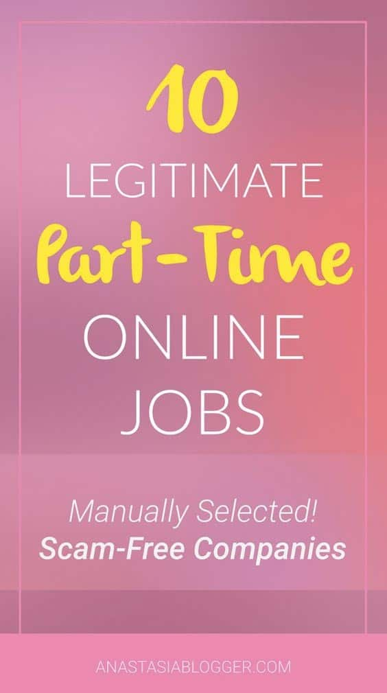 Find reliable companies offering part-time online jobs to work from home - from data entry jobs, transcribers to virtual assistants. Get a job today!