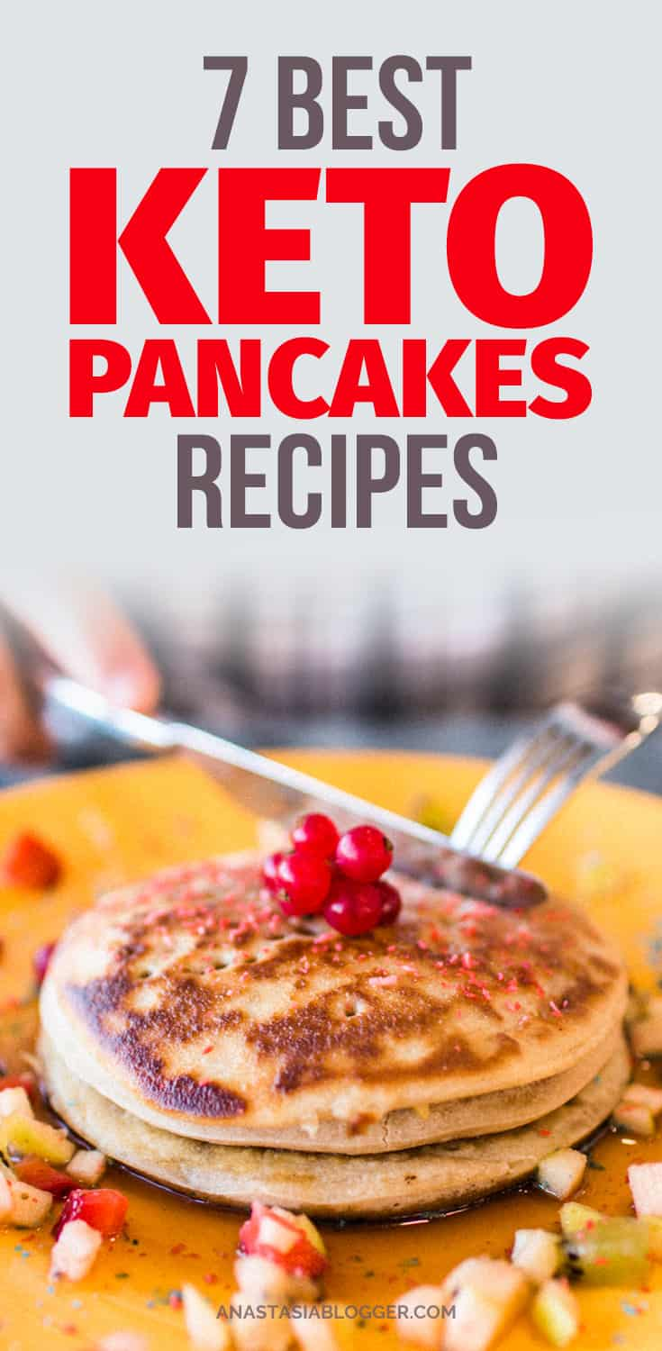 Save this collection to check later the best Keto pancakes recipes for a perfect breakfast while you are on the Ketogenic diet. These low carb pancakes have almond and coconut flour base, I found a recipe for savory pancakes and great Keto waffles option! #keto #lowcarb