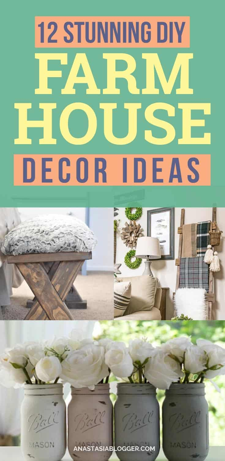 DIY farmhouse decor ideas are very trendy these days if you watch some home renovation TV shows you probably know that it's in high demand now. Check this farmhouse decor on a budget for the living room, bedroom, country kitchen, bathroom and other parts of your rustic home. #farmhouse #diy #decor