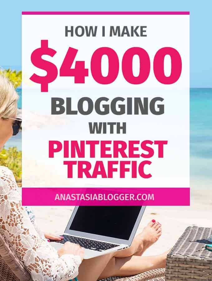I learned how to make money on Pinterest driving tons of free traffic to my blogs. I make $4000 a month and my new blog reached over $850 in the fourth-month blogging! My favorite way to make money online is blogging on Pinterest.