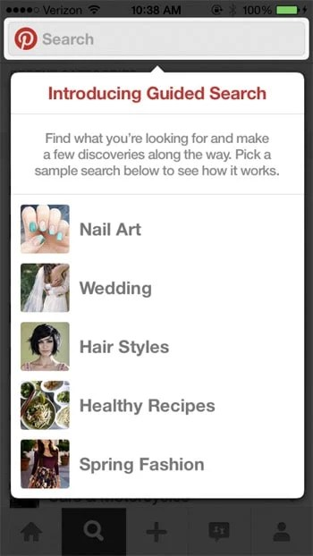 Pinterest Guided Search