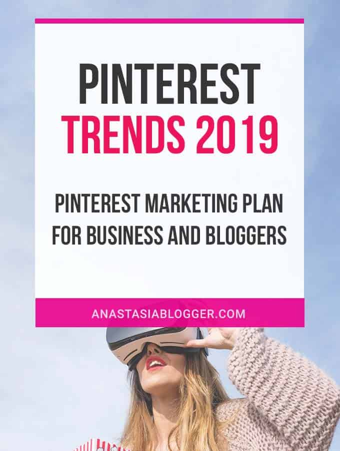 Pinterest Trends 2019: Pinterest Marketing Plan for Business and Bloggers. Pinterest tips for social media marketers, bloggers and businesses. Printable Pinterest Planner #pinterest #socialmedia #trends #socialmediamarketing #pinterestmarketing #planneraddict #blogging #blogger #traffic