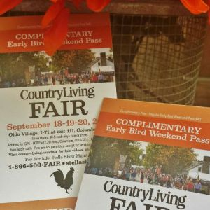 Country Living Fair Ticket Giveaway! #clfair