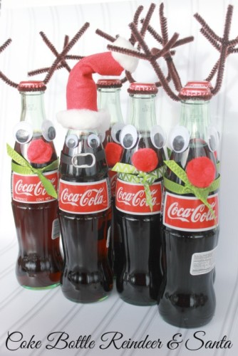 Coke-Bottle-Reindeer-and-Santa