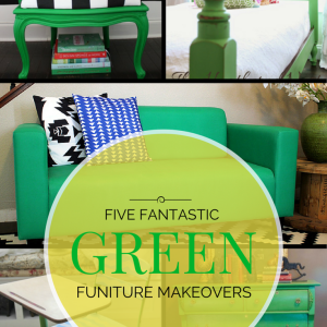 Five Fantastic Green Furniture Makeovers {St. Patrick's Day Roundup}
