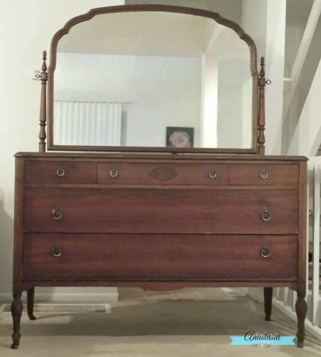 Antique Rockford Company Three Over Two Dresser and Mirror