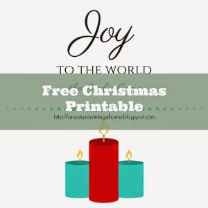 """""""Joy to the World"""" Christmas Printable"""