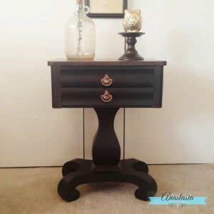 Elegant Empire Table Makeover {Furniture Refresh}