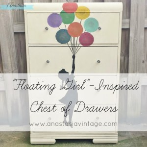 """Floating Girl"" Inspired Chest of Drawers {The Fab Furniture Flippin' Contest}"