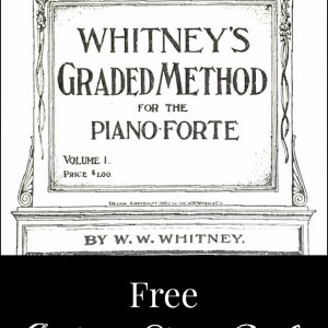 Antique Piano Book Printable