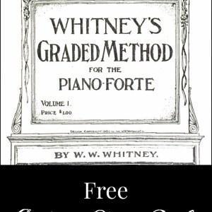 Antique Piano Book Printable