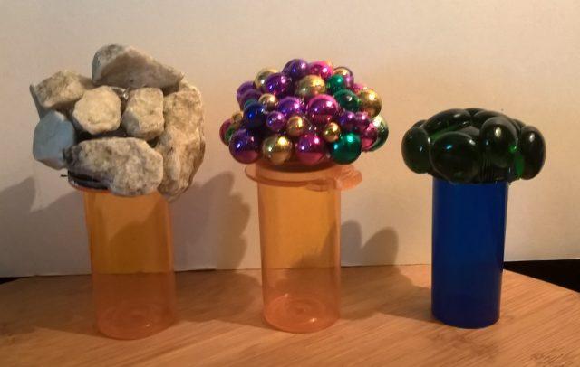 Mardi Gras beads as bottle lid