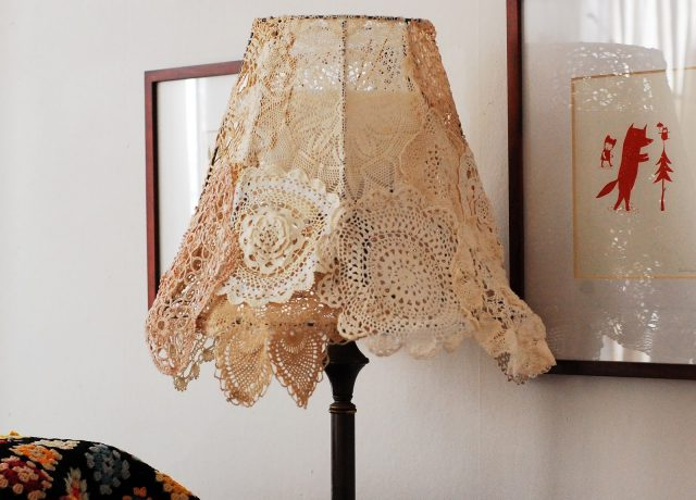 Vintage Lamp - Doily Shade